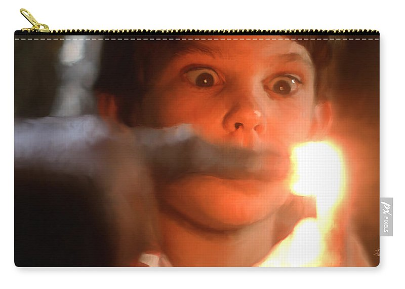 E.t. Carry-all Pouch featuring the painting Phone Home by Paul Tagliamonte