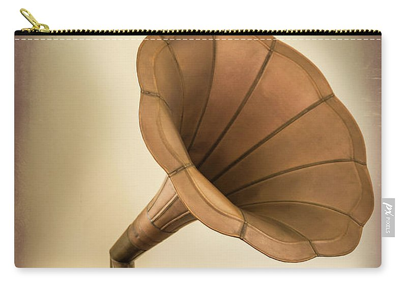 Music Carry-all Pouch featuring the photograph Phonograph Record Player by Gary S Chapman