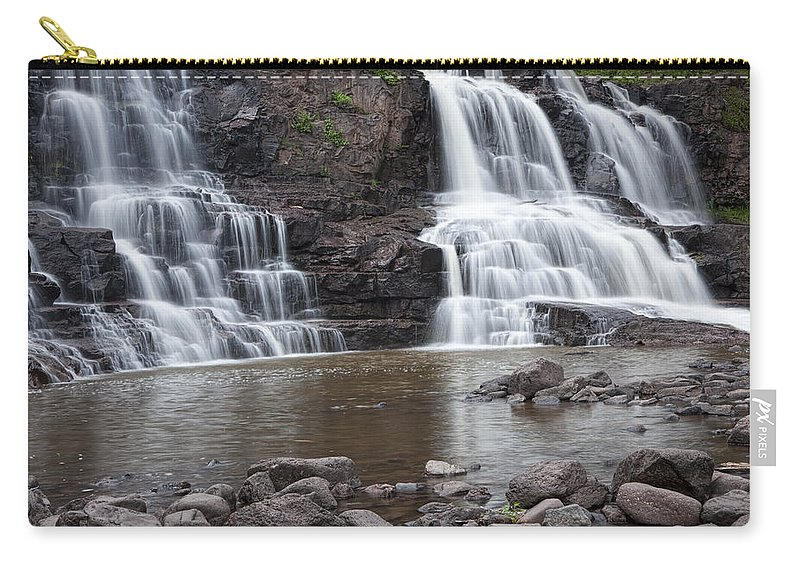 Art Carry-all Pouch featuring the photograph Photograph Of Lower Gooseberry Falls In Minnesota by Randall Nyhof