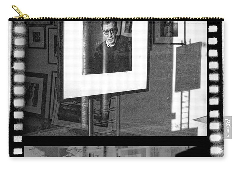 Art Carry-all Pouch featuring the photograph Photographic Artwork Of Woody Allen In A Window Display by Randall Nyhof