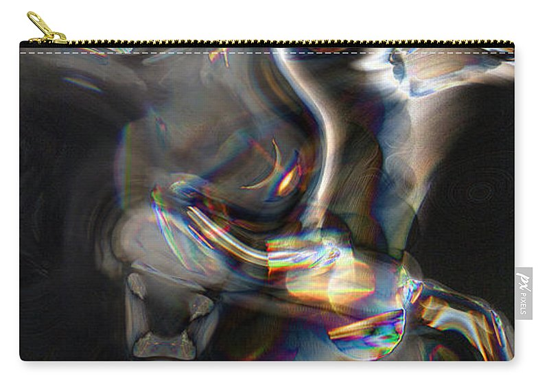 Abstract Carry-all Pouch featuring the digital art Photonic Totem by Richard Thomas