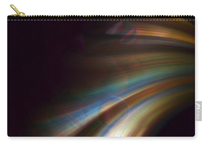 Abstract Carry-all Pouch featuring the digital art Photons From The Edge by Richard Thomas