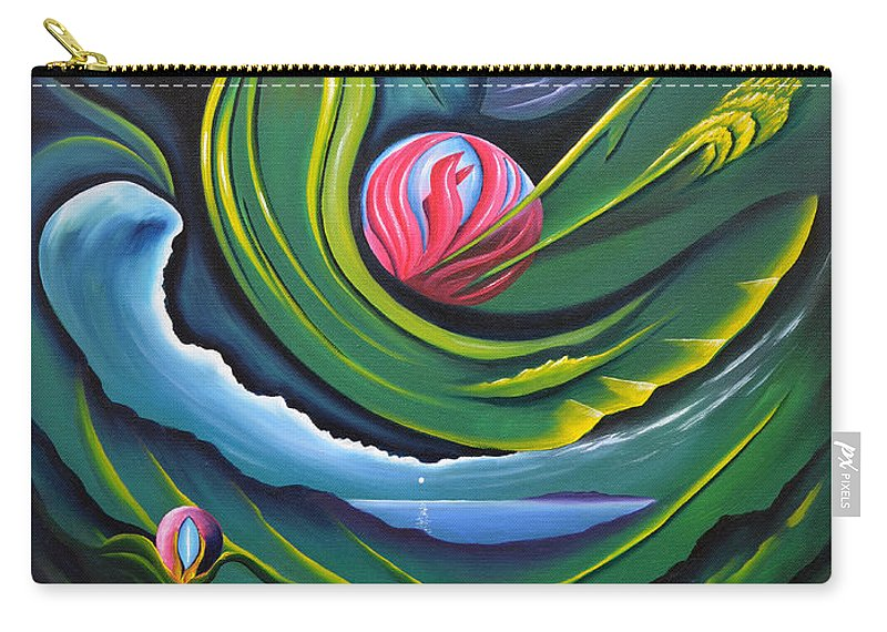 Photosynthesis Carry-all Pouch featuring the painting Photosynthesis Makes Me Green With Envy by Tony Oakey