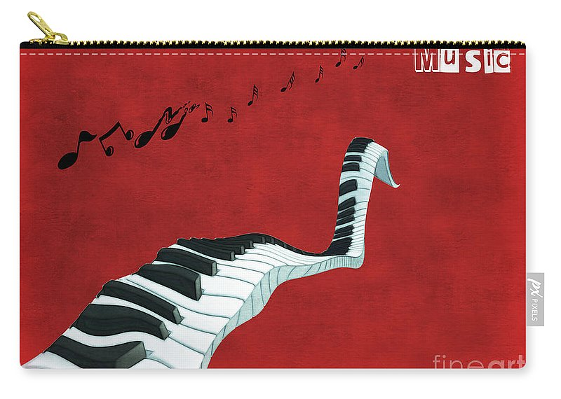 Piano Carry-all Pouch featuring the digital art Piano Fun - S01at01 by Variance Collections