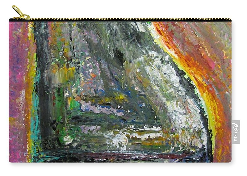 Impressionist Carry-all Pouch featuring the painting Piano Red by Anita Burgermeister