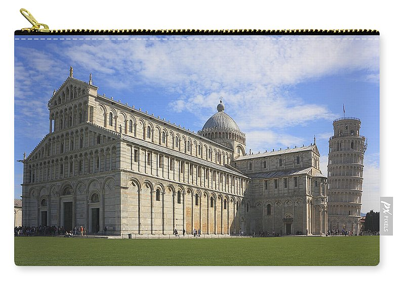 Architecture Carry-all Pouch featuring the photograph Piazza Del Duomo Pisa Italy by Ivan Pendjakov