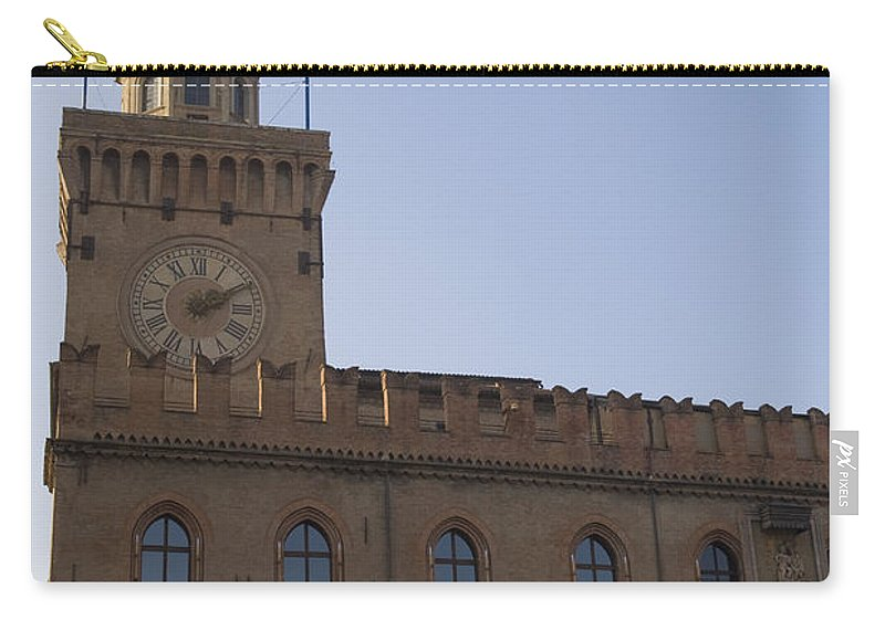 Travel Carry-all Pouch featuring the photograph Piazza Maggiore Piazza Del Nettuno by Jason O Watson