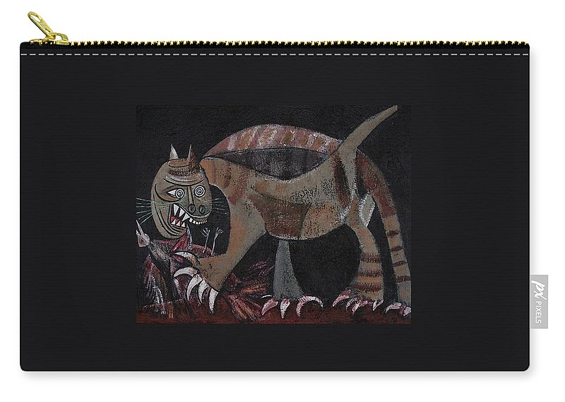 Picasso Carry-all Pouch featuring the painting Picassos' Cat by Sue Wright