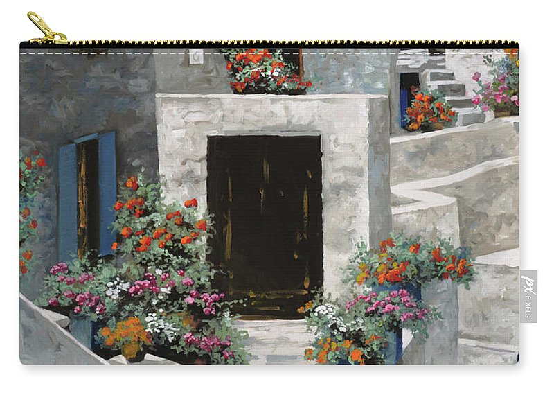 Landscape Carry-all Pouch featuring the painting piccole case bianche di Grecia by Guido Borelli