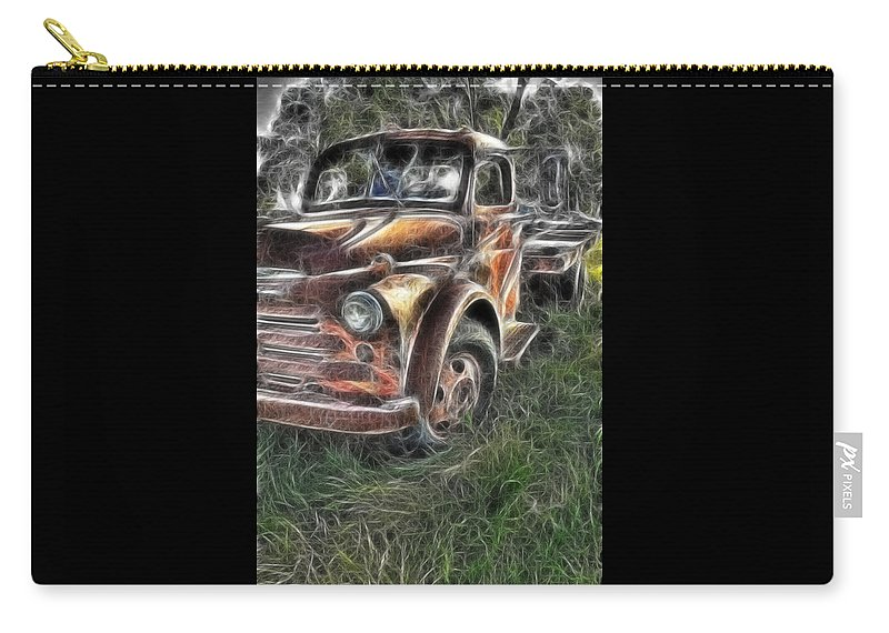 Pickup Truck Carry-all Pouch featuring the photograph Pickup 2467 by Timothy Bischoff