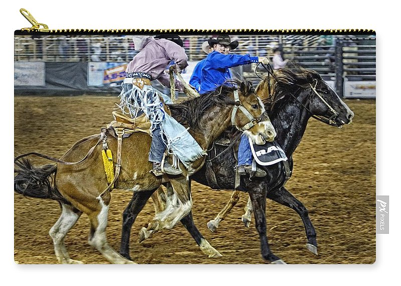 Bronc Carry-all Pouch featuring the photograph Pickup From The Bronc by Alice Gipson