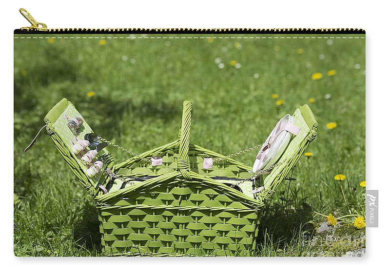 Picnic Basket Carry-all Pouch featuring the photograph Picnic Basket by Mats Silvan