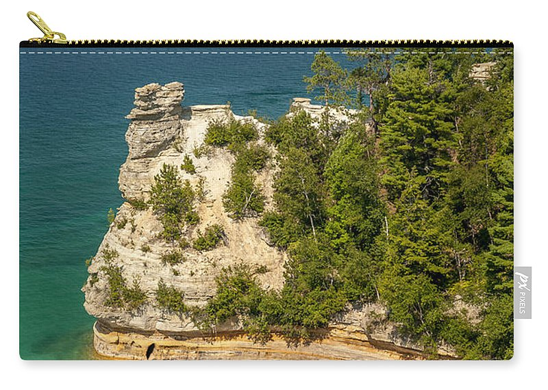 Pictured Rocks National Lakeshore Carry-all Pouch featuring the photograph Pictured Rocks National Lakeshore by Sebastian Musial