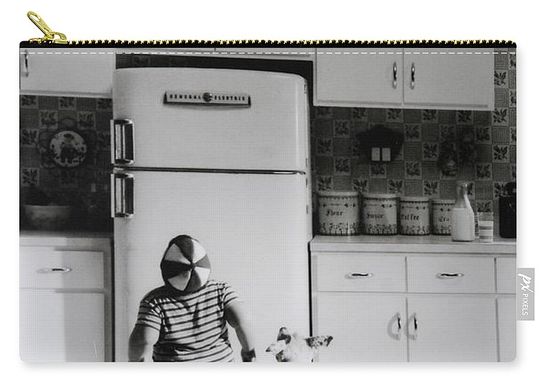 Pie Carry-all Pouch featuring the photograph PIE IN THE SKY in BLACK AND WHITE by Rob Hans