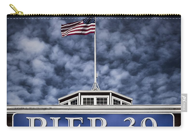 Pier 39 Carry-all Pouch featuring the photograph Pier 39 by Dave Bowman