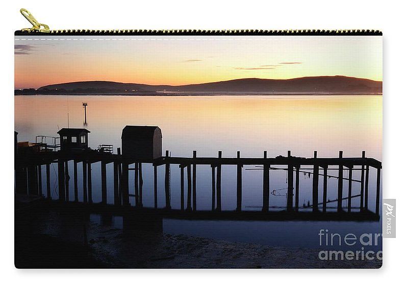 California Carry-all Pouch featuring the photograph Pier At Bodega Bay California by Bob Christopher