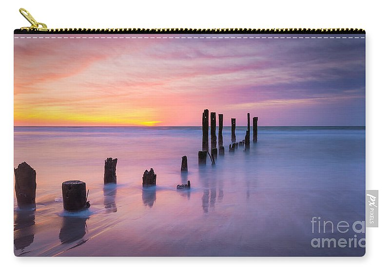 Milky Way Mike Carry-all Pouch featuring the photograph Pier Into The Past 16x9 by Michael Ver Sprill