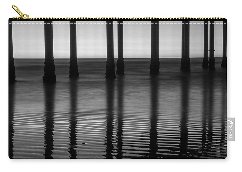Pier Carry-all Pouch featuring the photograph Pier Reflections by Lauri Novak