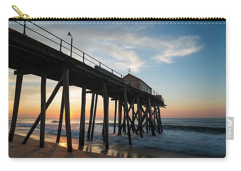 New Jersey Carry-all Pouch featuring the photograph Pier Side by Kristopher Schoenleber