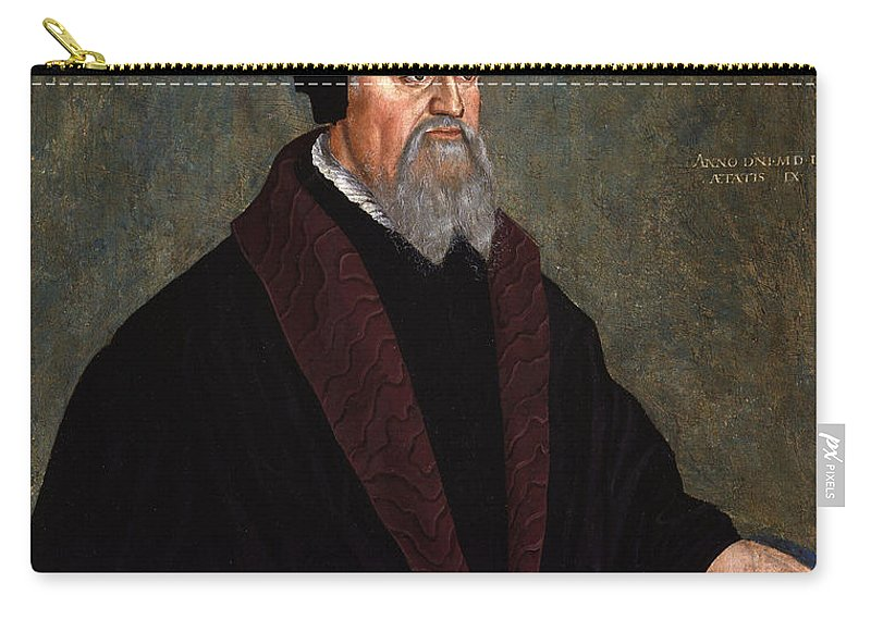 Hans Asper Carry-all Pouch featuring the painting Pietro Martire Vermigli by Hans Asper
