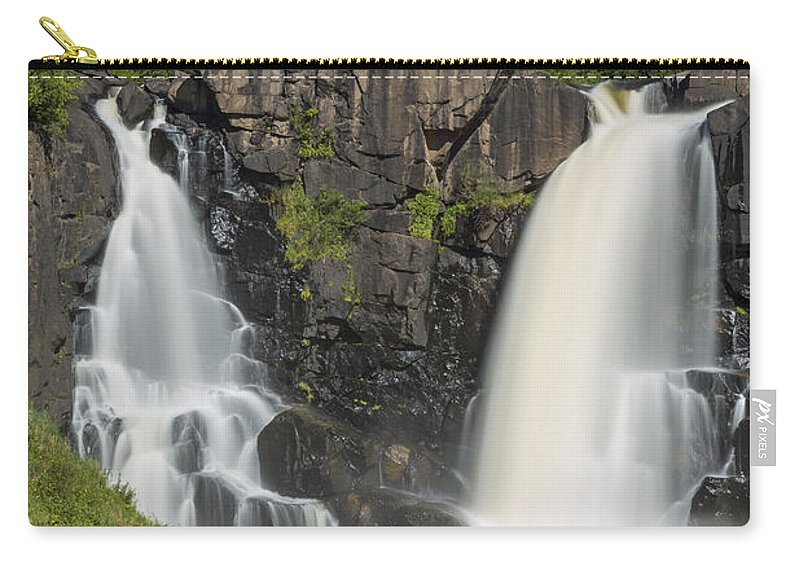 Waterfall Carry-all Pouch featuring the photograph Pigeon River High Falls 11 by John Brueske