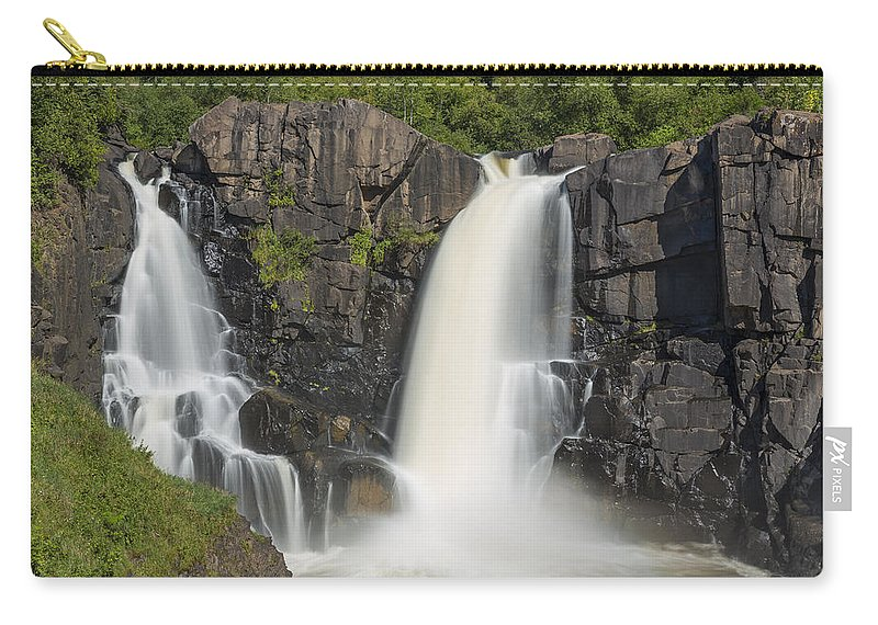 Waterfall Carry-all Pouch featuring the photograph Pigeon River High Falls 10 by John Brueske