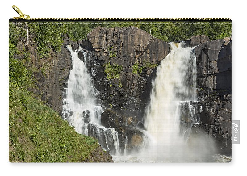 Waterfall Carry-all Pouch featuring the photograph Pigeon River High Falls 2 by John Brueske