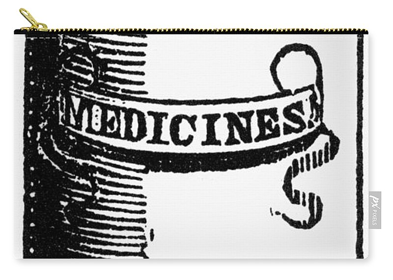 19th Century Carry-all Pouch featuring the photograph Pill Bottle, 19th Century by Granger