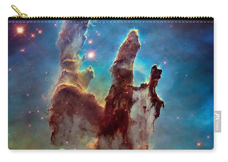 Pillars Of Creation Carry-all Pouch featuring the photograph Pillars Of Creation In High Definition - Eagle Nebula by Jennifer Rondinelli Reilly - Fine Art Photography
