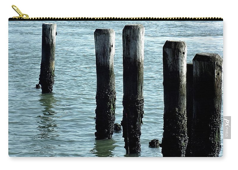 Pillars Carry-all Pouch featuring the photograph Pillars Of The Sea by Deborah Crew-Johnson