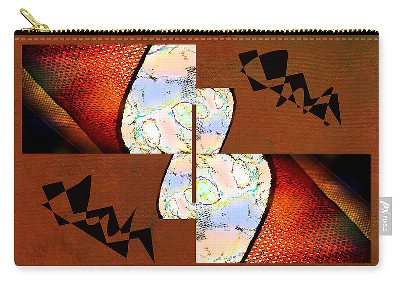 Abstract Carry-all Pouch featuring the photograph Pillow Talk by Linda Dunn