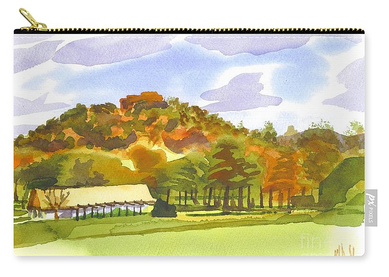 Pilot Knob Mountain Carry-all Pouch featuring the painting Pilot Knob Mountain by Kip DeVore