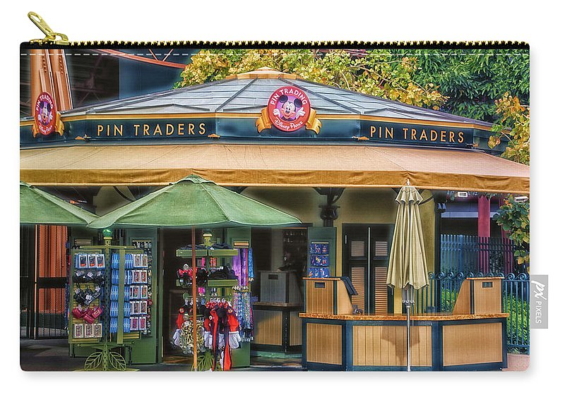 Disney Carry-all Pouch featuring the photograph Pin Traders Downtown Disneyland 02 by Thomas Woolworth