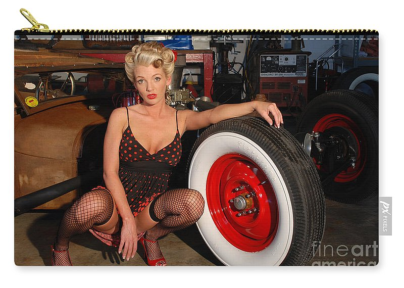 1930 Carry-all Pouch featuring the photograph Pin Up Girl by Jt PhotoDesign