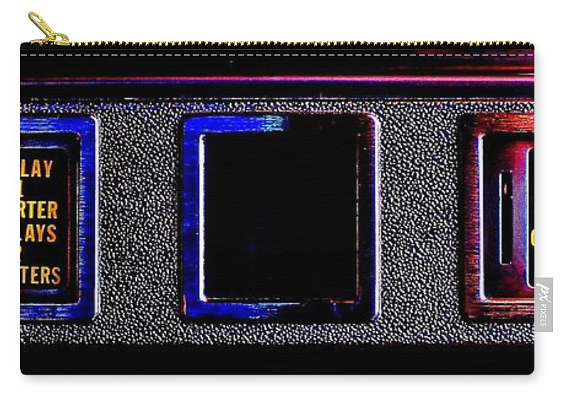 Pinball Carry-all Pouch featuring the photograph Pinball Economics by Benjamin Yeager