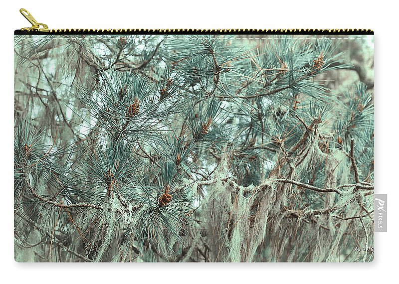 Pine Carry-all Pouch featuring the photograph Pine Cones And Lace Lichen by Angela Stanton