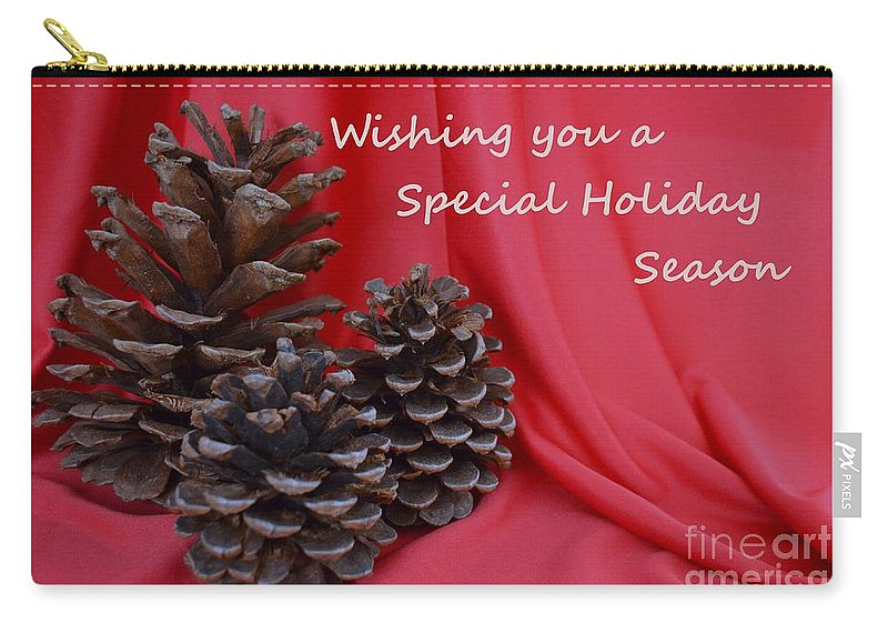 Pine Cones Carry-all Pouch featuring the photograph Pine Cones For The Holidays by Mary Deal