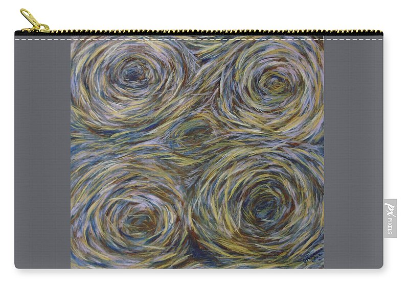 Pine Needles Carry-all Pouch featuring the pastel Pine Needle Squirrel Holes by Joann Renner