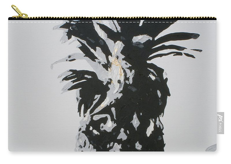 Pineapple Carry-all Pouch featuring the painting Pineapple by Katharina Filus