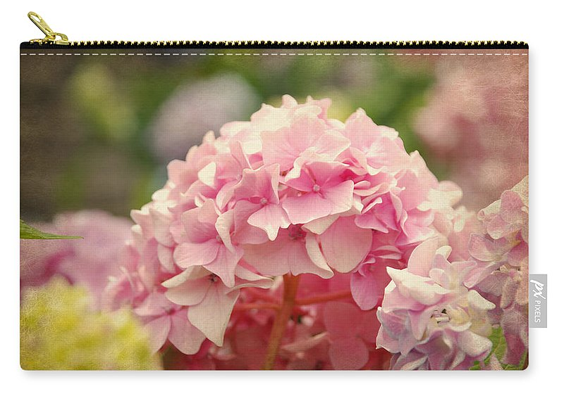 Hydrangea Carry-all Pouch featuring the photograph Pink by Beverly Stapleton