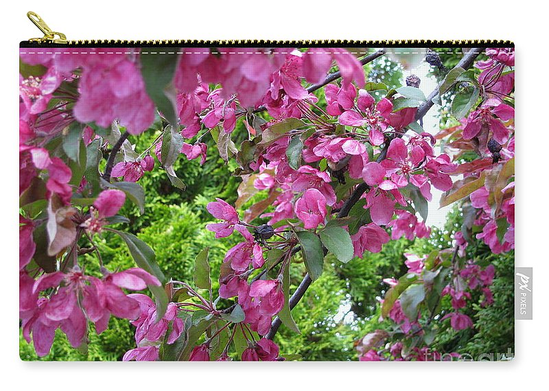 Blossoms Carry-all Pouch featuring the photograph Pink Blossoms by Leone Lund