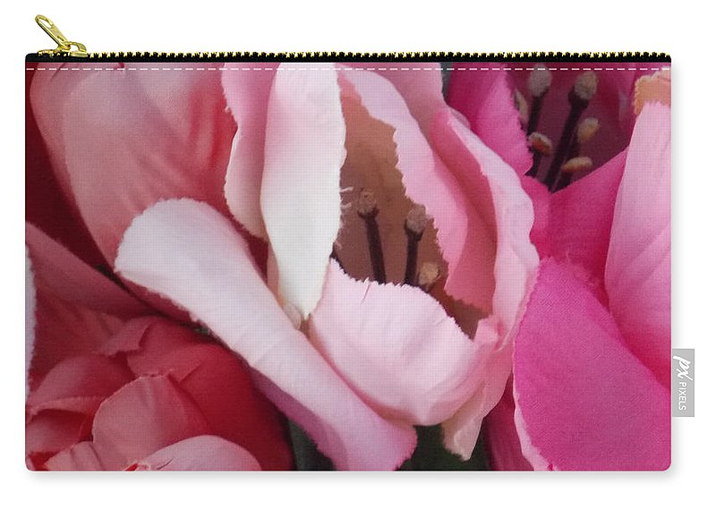 Flower Carry-all Pouch featuring the photograph Pink by Brent Dolliver