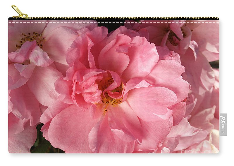 Pink Carry-all Pouch featuring the photograph Pink Cluster by Jacklyn Duryea Fraizer