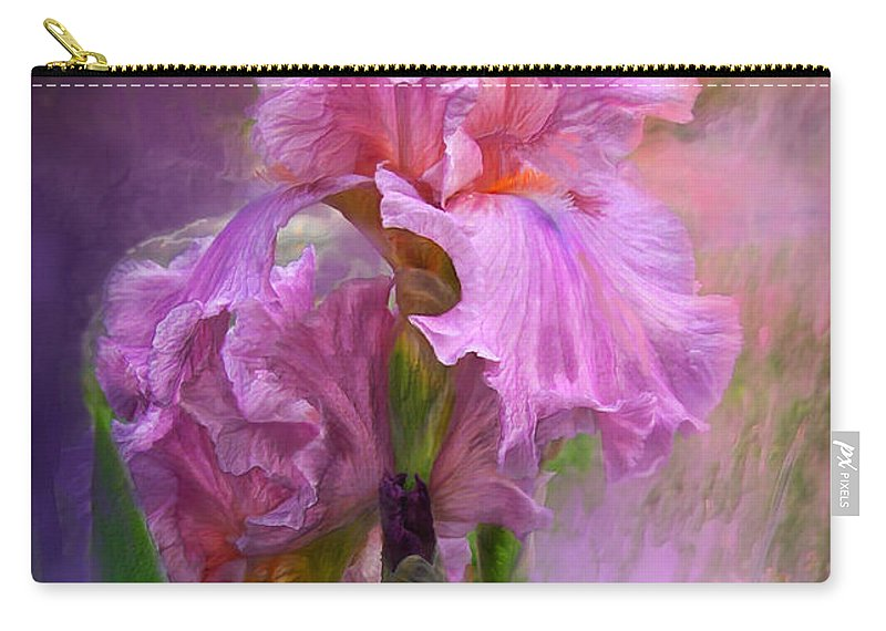 Iris Carry-all Pouch featuring the mixed media Pink Goddess by Carol Cavalaris