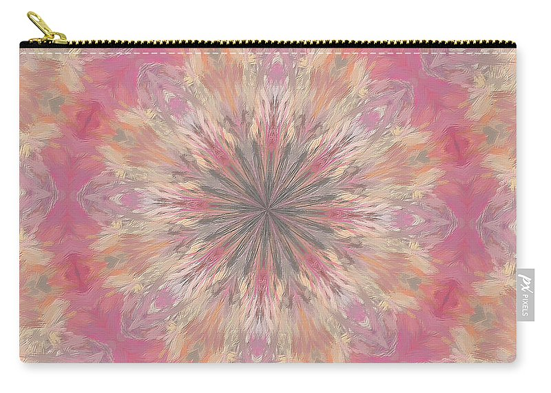 Mandala Carry-all Pouch featuring the digital art Pink Healing Mandala by Deborah Benoit