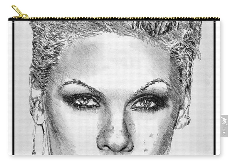 Mccombie Carry-all Pouch featuring the drawing Pink In 2012 by J McCombie