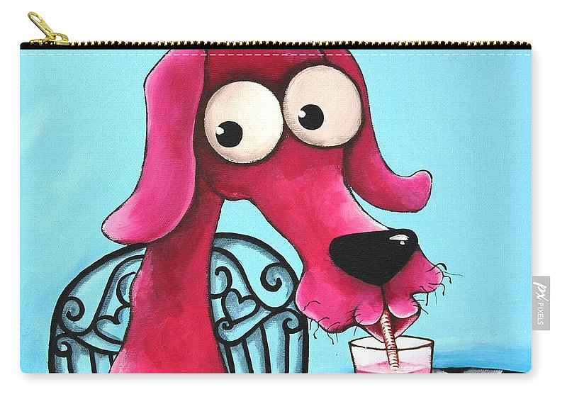 Dog Carry-all Pouch featuring the Pink Milk by Lucia Stewart