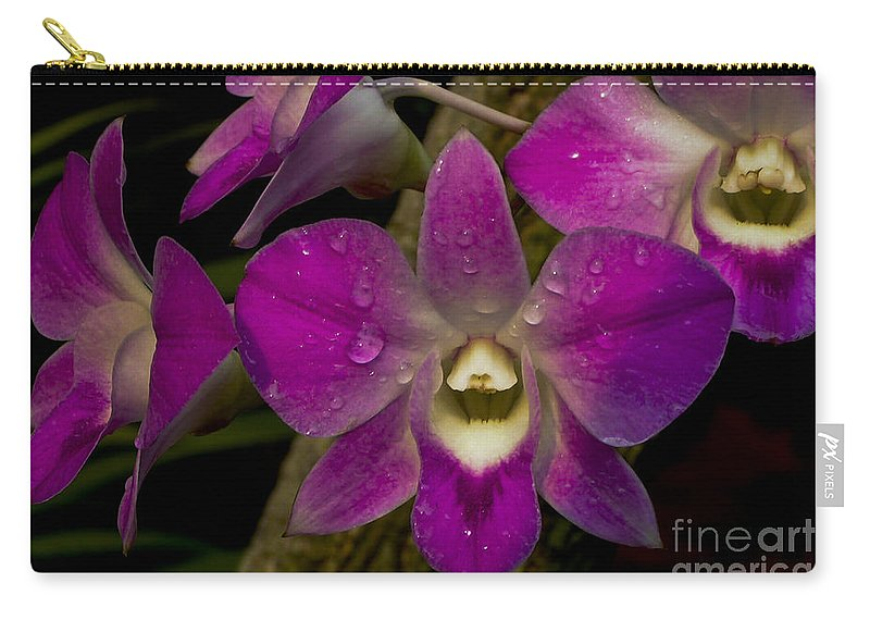Ovejoy Carry-all Pouch featuring the photograph Pink Orchids by Lovejoy Creations