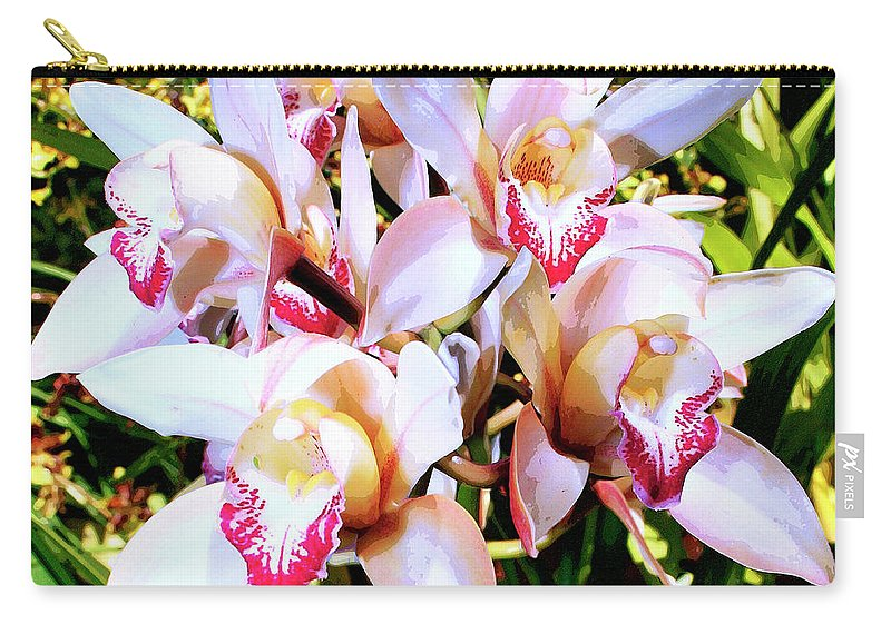 Orchid Carry-all Pouch featuring the photograph Pink Spirit Orchids Palm Springs by William Dey