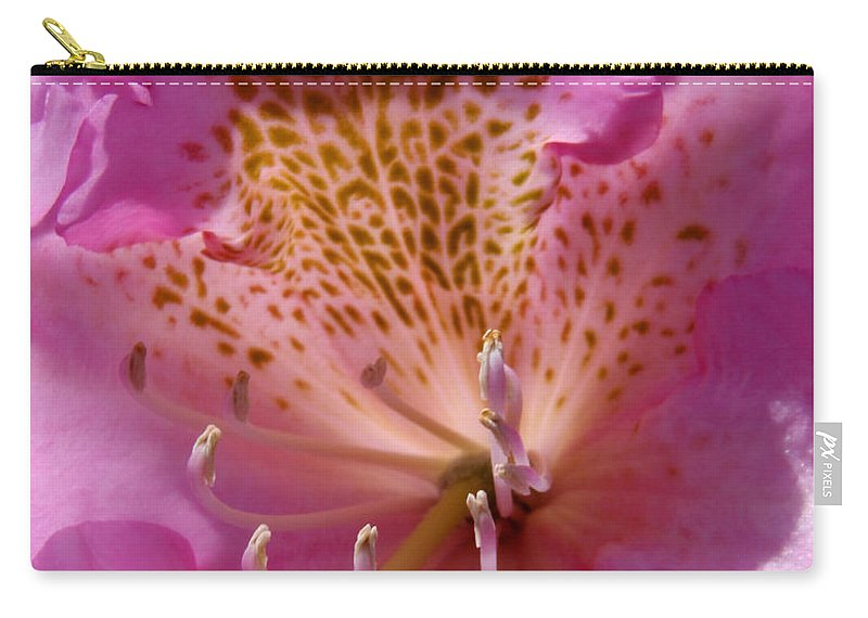 Blossom Carry-all Pouch featuring the photograph Pink Rhododendron by Bob Slitzan